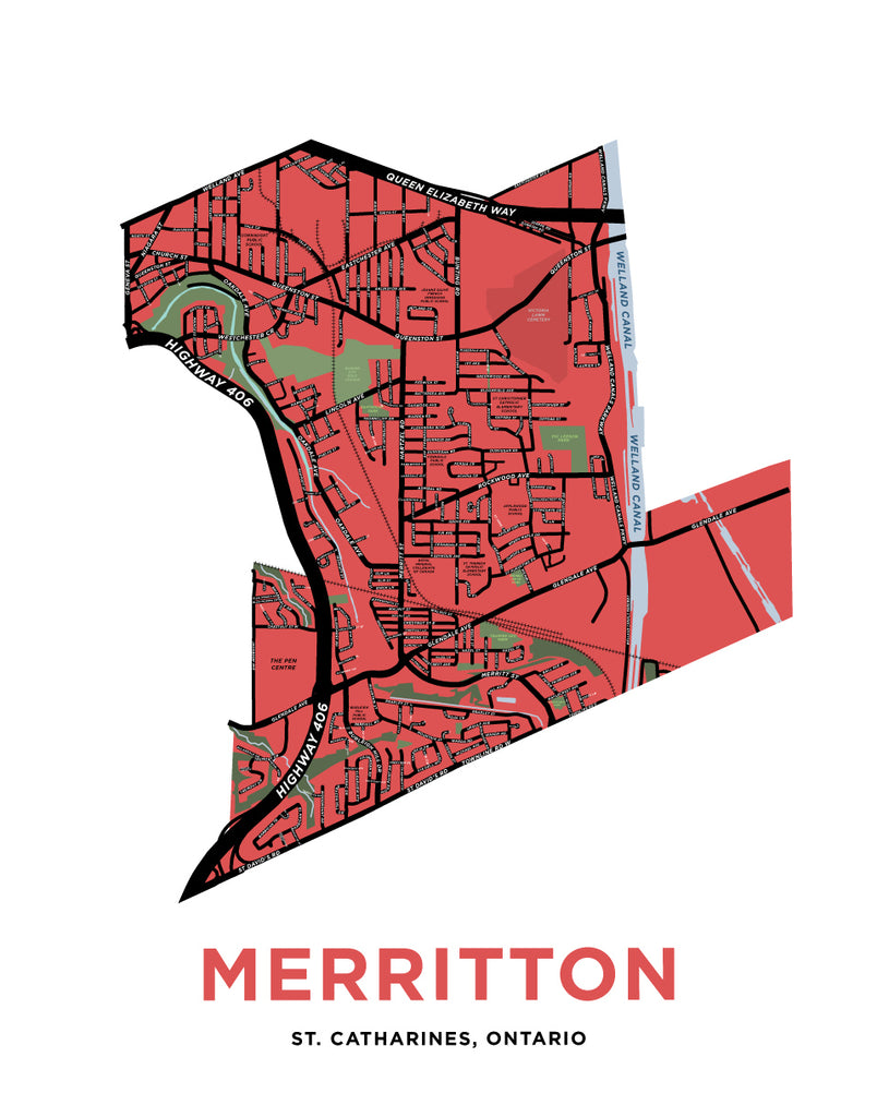 Merritton Ward Map Print