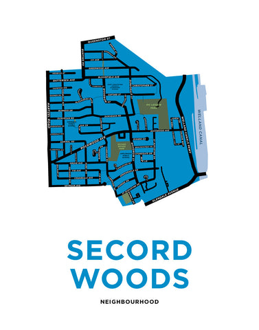 Secord Woods Neighbourhood Map Print