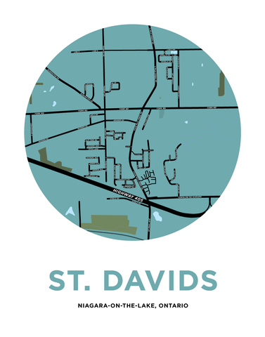 St. David's Map Print (Niagara-On-The-Lake)