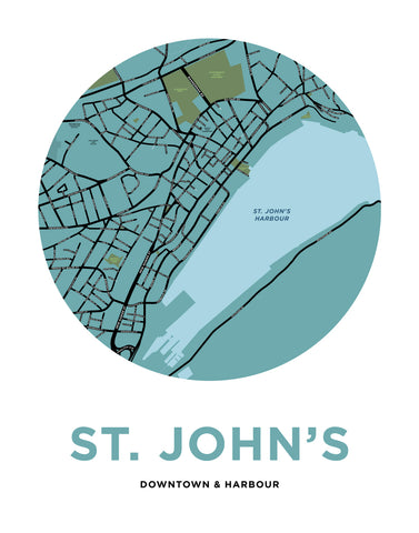 Downtown St. John's Map Print