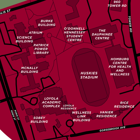 Saint Mary's University Campus Map Print