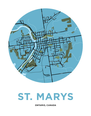 St Marys Map Print