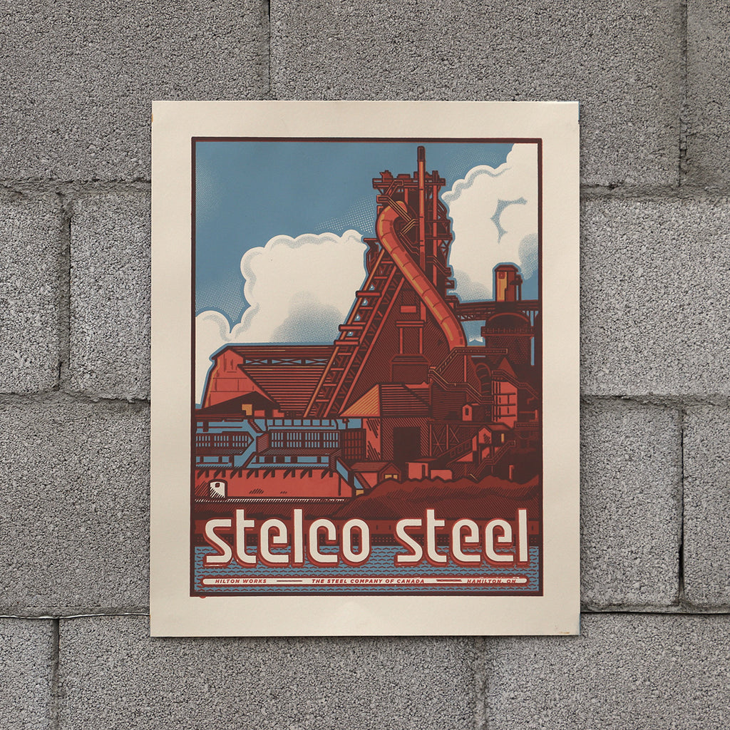 Stelco Screen Printed Poster