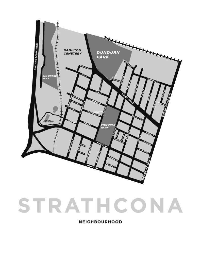 Custom Strathcona Neighbourhood Map