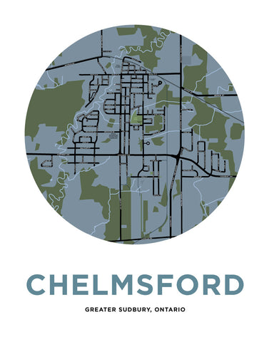 Chelmsford Map Print