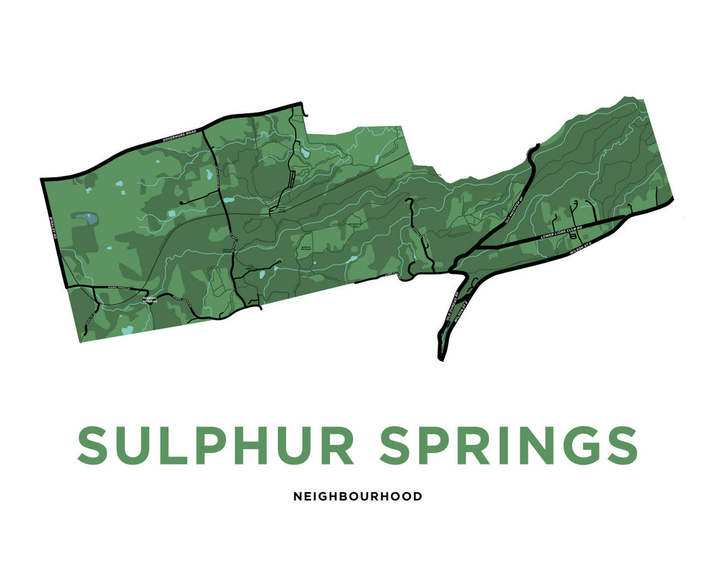 Sulphur Springs Neighbourhood Map Print
