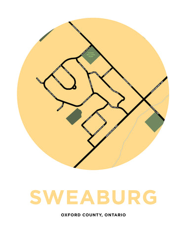 Sweaburg Map Print (Oxford County, Ontario)