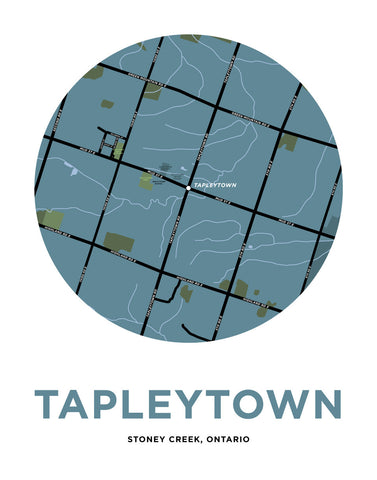 Tapleytown Map Print