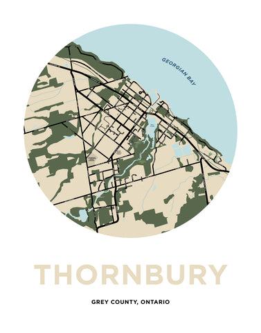Thornbury Map Print