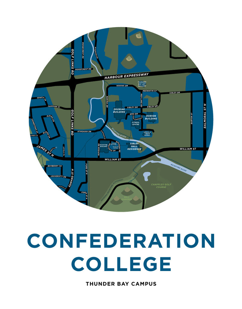 Confederation College Campus Map Print
