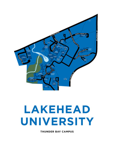 Lakehead University Map Print