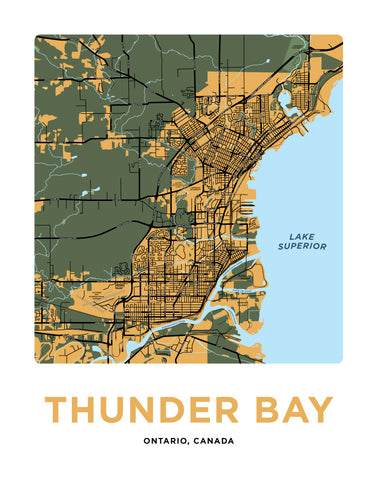 Thunder Bay Map Print