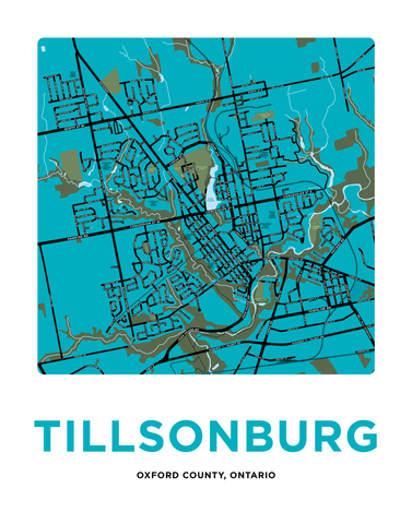 Tillsonburg Map Print