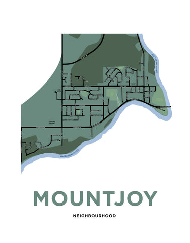 Mountjoy Neighbourhood Map Print