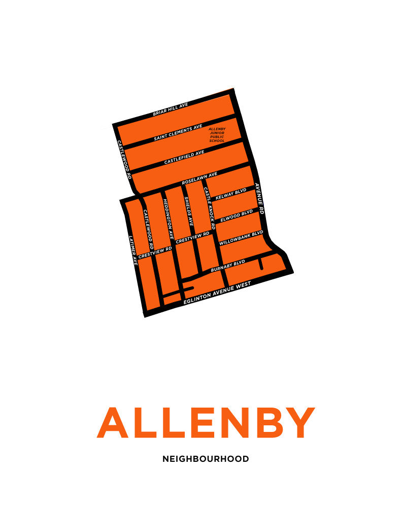 Allenby Neighbourhood Map Print