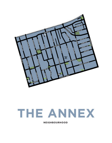 Annex, The - Neighbourhood Map Print