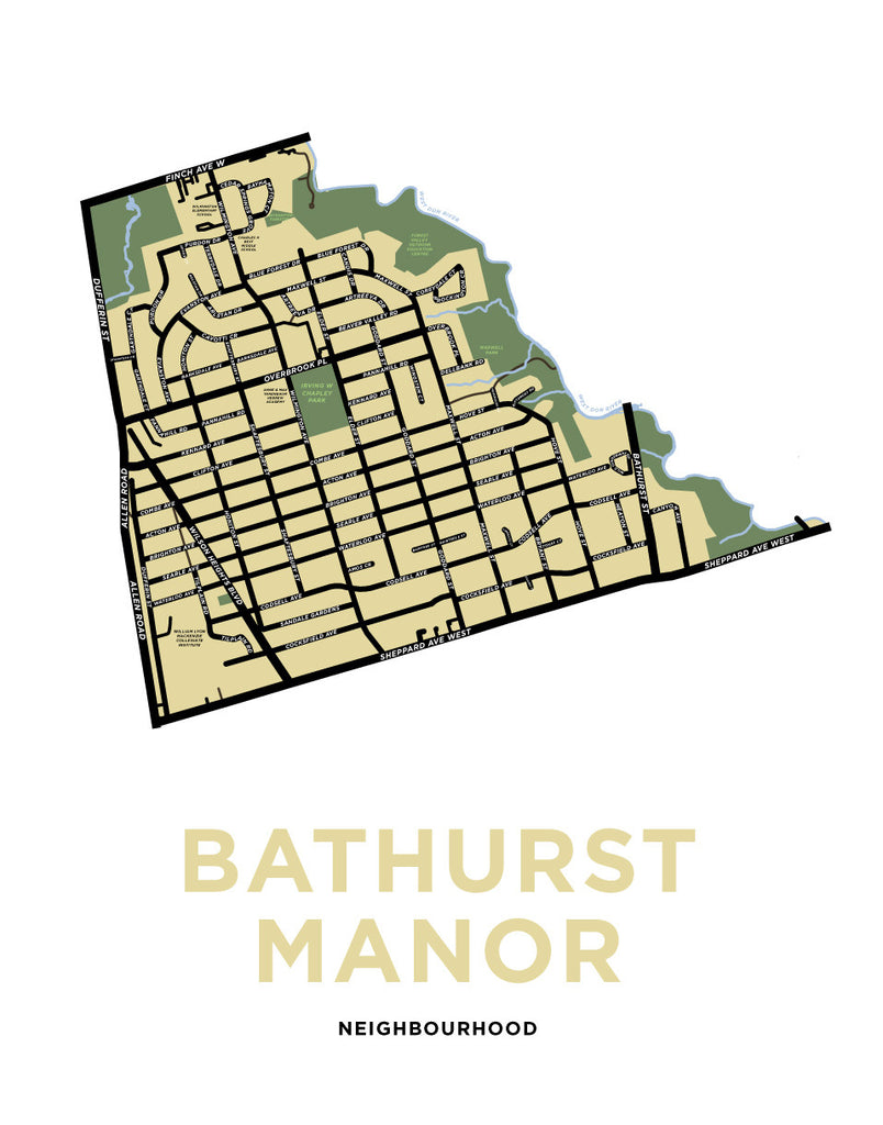 Bathurst Manor Neighourhood Map Print