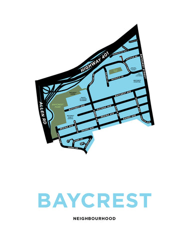 Baycrest Neighbourhood Map Print