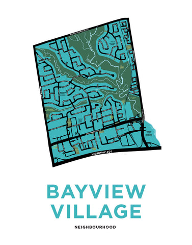 Bayview Village Neighbourhood Map Print