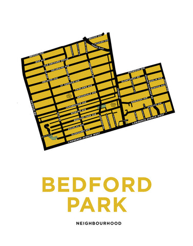 Bedford Park Neighbourhood Map Print