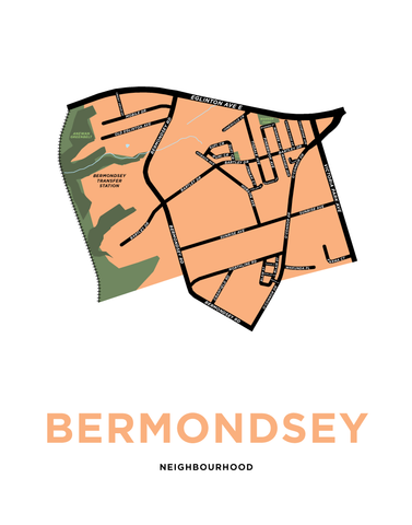 Bermondsey Neighbourhood Map Print
