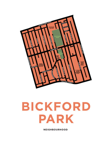 Bickford Park Neighbourhood Map Print
