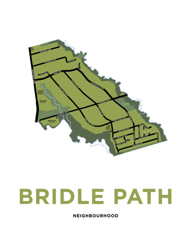 Bridle Path Neighbourhood Map Print