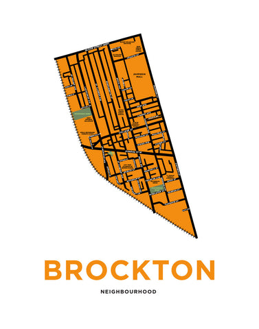 Brockton Neighbourhood Map Print