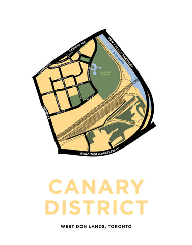 Canary District Map Print