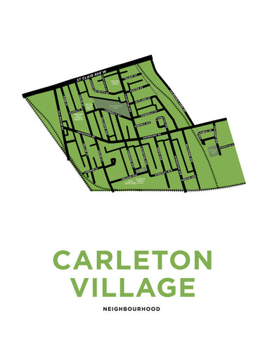 Carleton Village Neighbourhood Map Print
