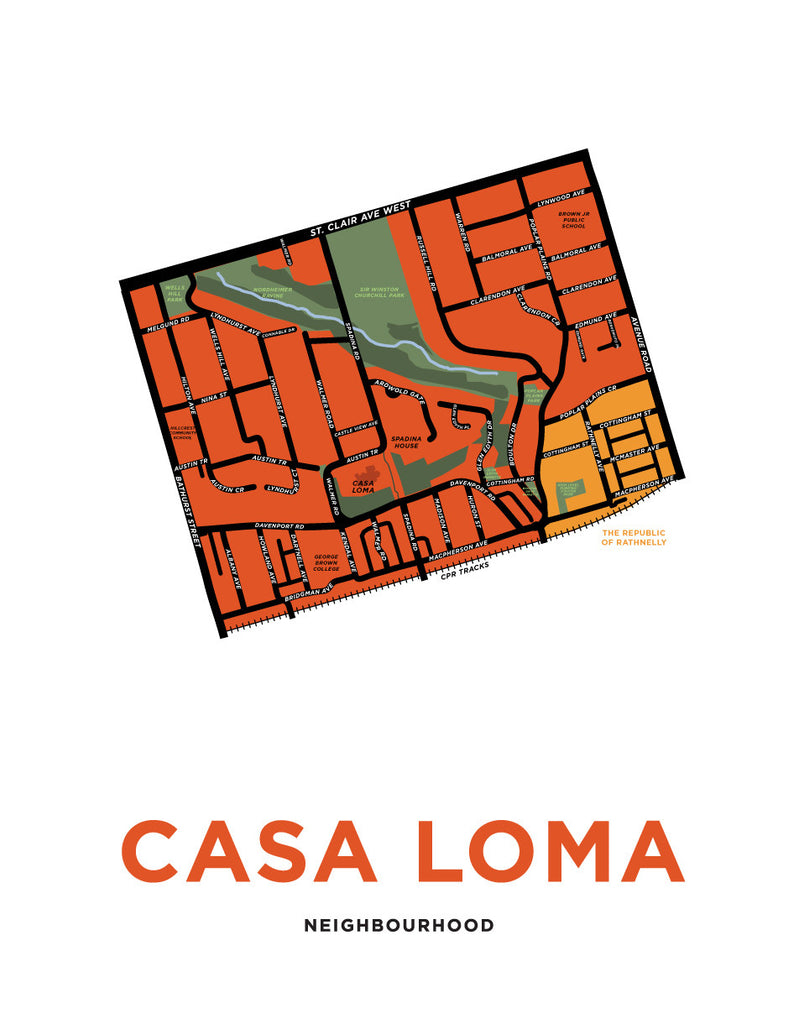 Casa Loma Neighbourhood Map Print