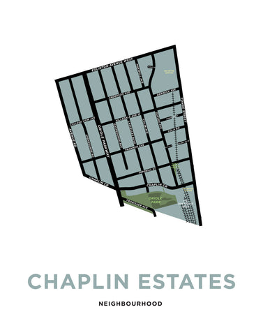 Chaplin Estates Neighbourhood Map Print