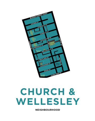 Church & Wellesley Neighbourhood Map Print