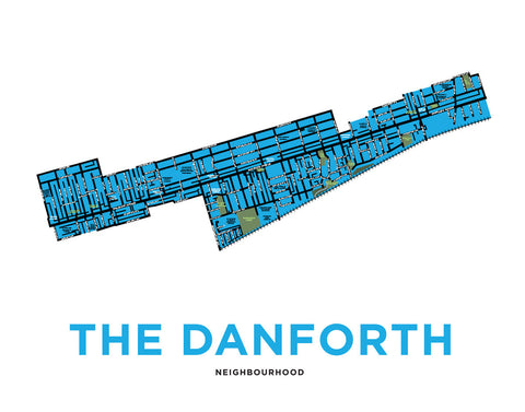 Danforth, The - Neighbourhood Map Print
