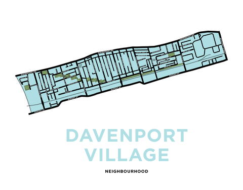 Davenport Village Neighbourhood Map Print