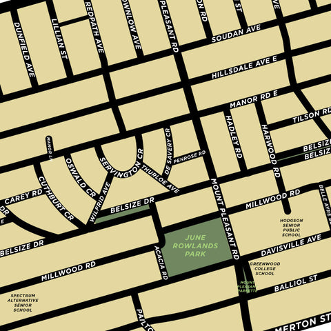Davisville Neighbourhood Map Print