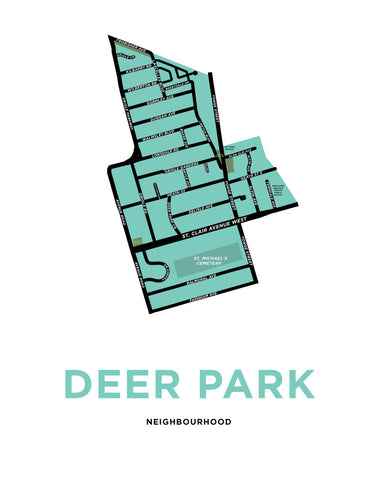 Deer Park Neighbourhood Map Print