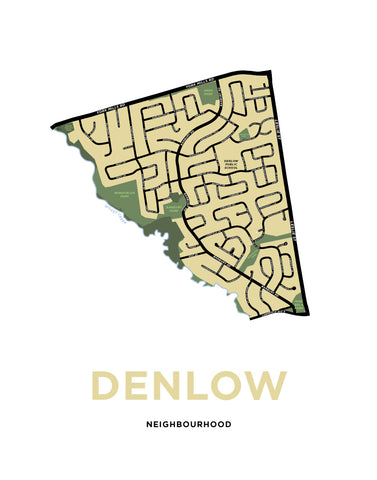 Denlow Neighbourhood Map Print