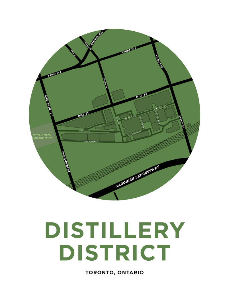 Distillery District Map Print