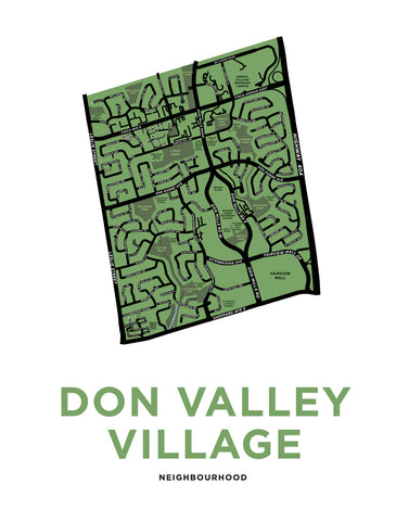 Don Valley Village Neighbourhood Map Print