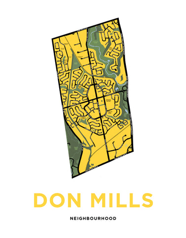 Don Mills Neighbourhood Map Print