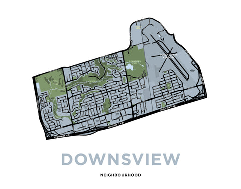 Downsview Map Print