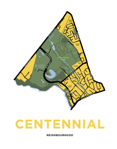 Centennial Neighbourhood Map Print (Etobicoke)
