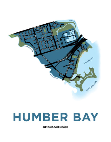 Humber Bay Neighbourhood Map Print