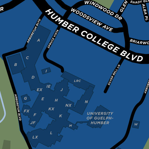 Humber College North Campus Map Print