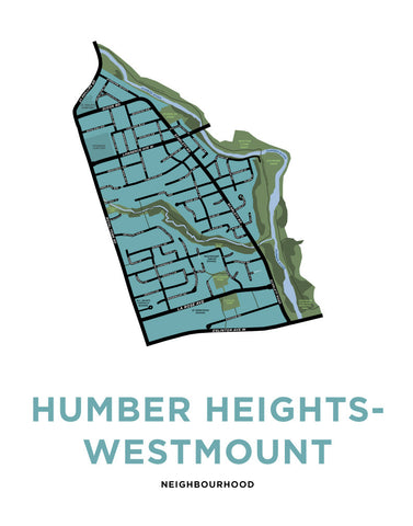 Humber Heights-Westmount Neighbourhood Map Print