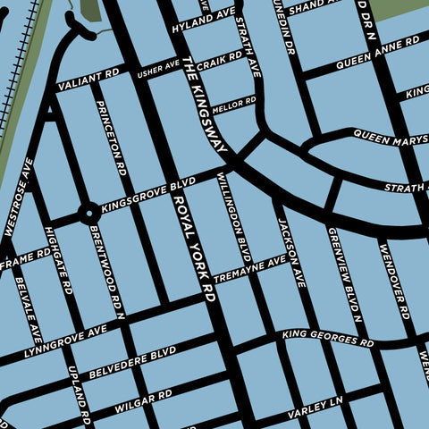 The Kingsway Neighbourhood Map Print