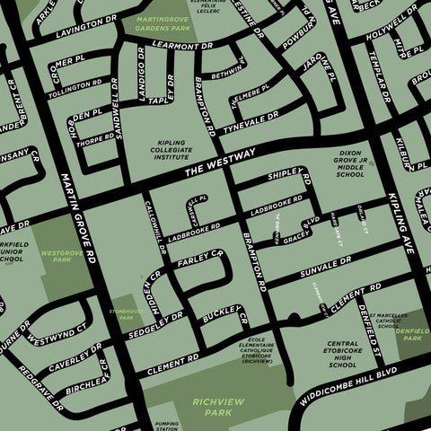 Richview Neighbourhood Map Print