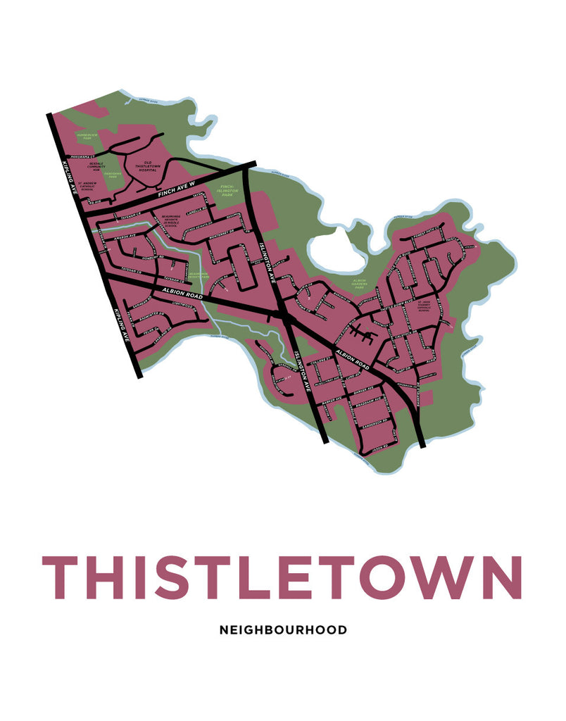 Thistletown Neighbourhood Map Print