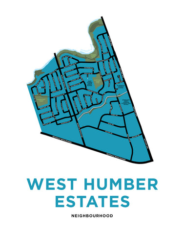 West Humber Estates Map Print